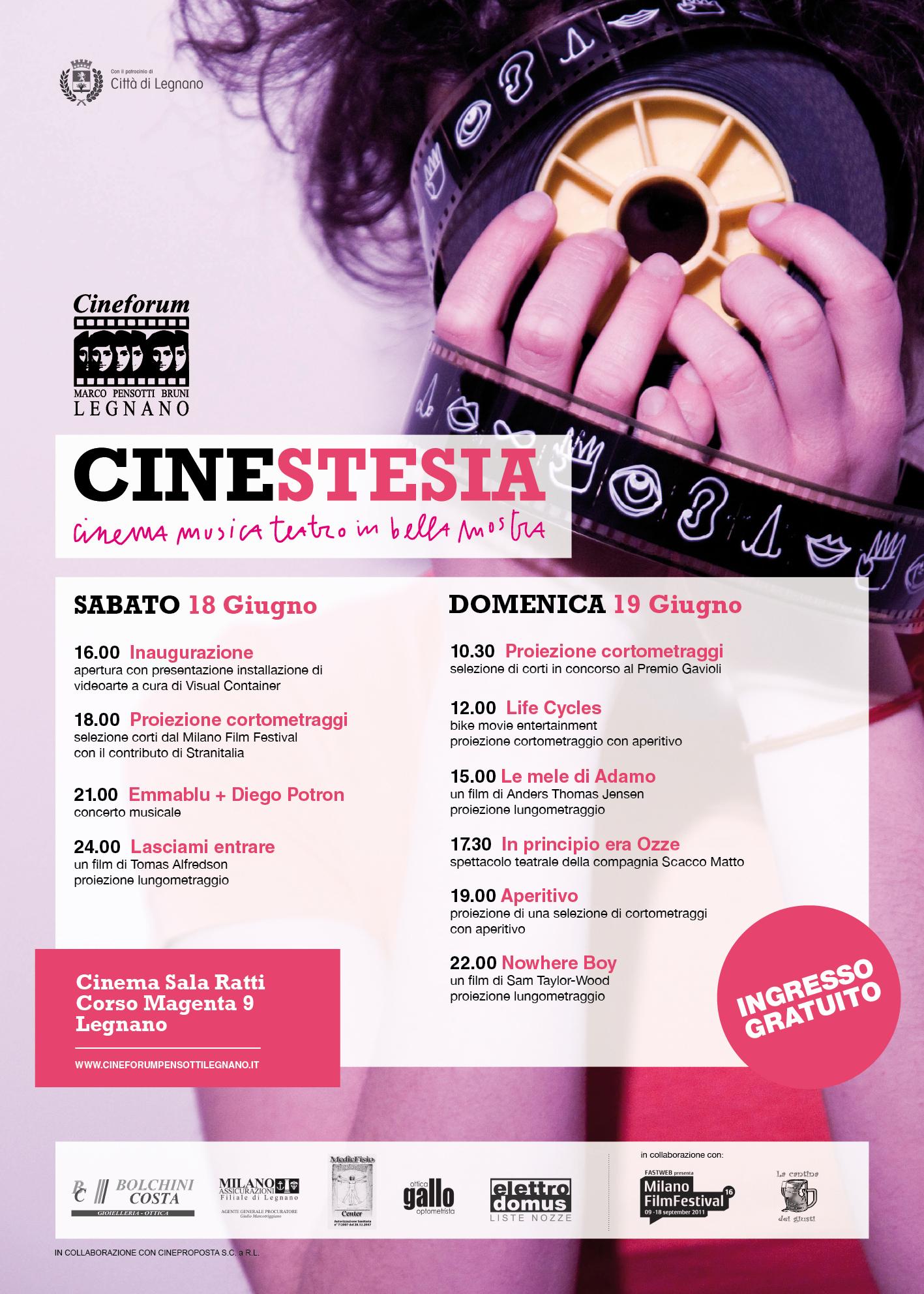 Locandina Cinestesia 2011