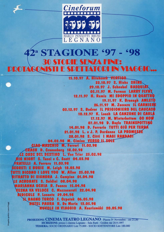 Volantino Stagione 1997-1998