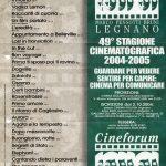 Volantino Stagione 2004-2005