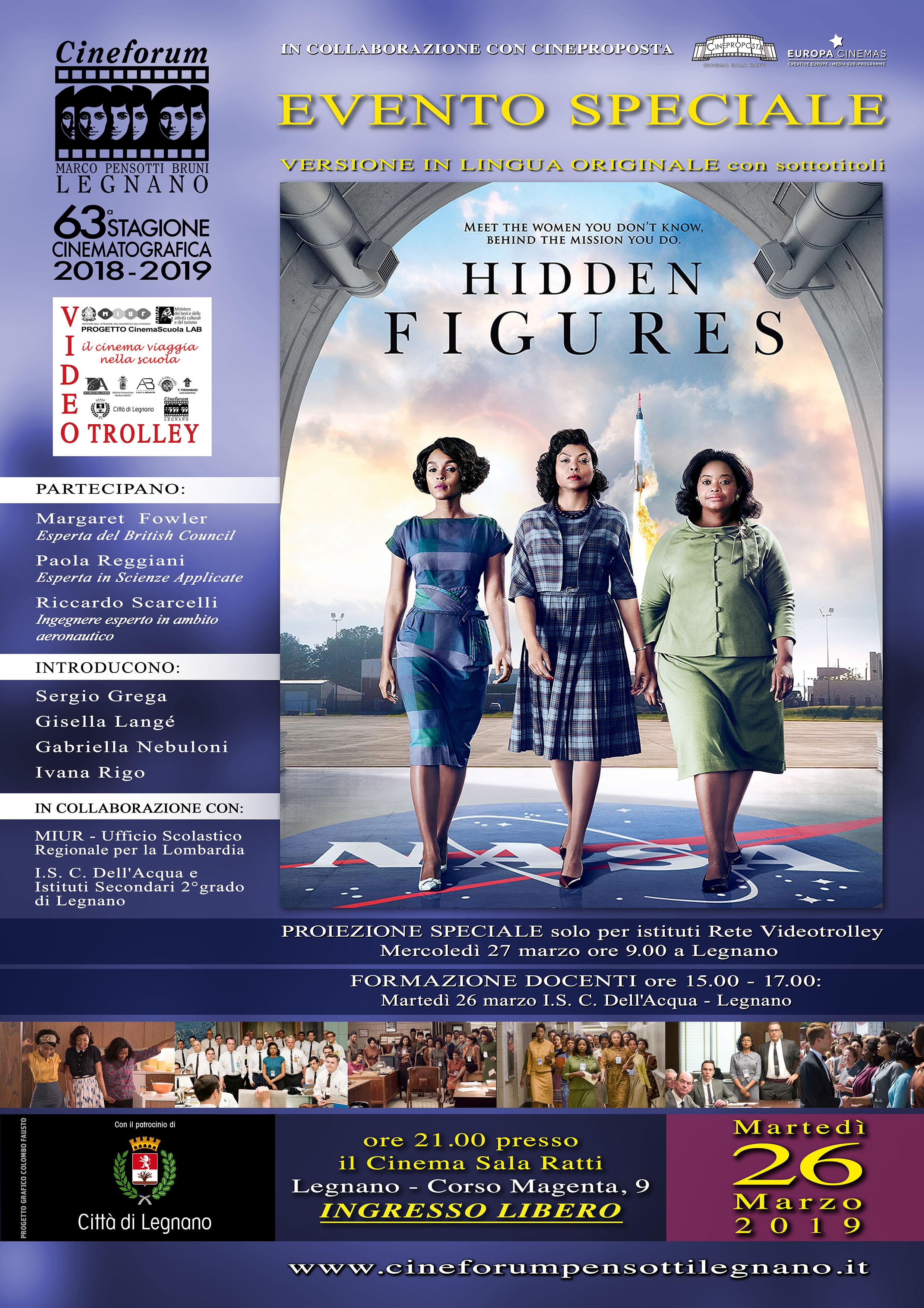 Volantino Evento Speciale - ''Hidden Figures''